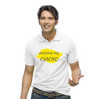 Koszulka z meszkiem z grafiką wypukłą Flock