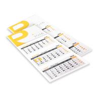 Kalendarz trójdzielny składany
