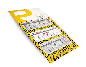 Kalendarz trójdzielny składny