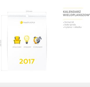 Kalendarz ścienny wieloplanszowy