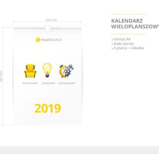 kalendarz wieloplanszowy A4 2019