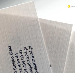 Wizytówka premium na papierze ozdobnym