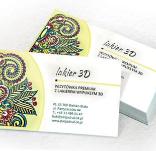 Wizytówka premium z lakierem wypukłym 3D
