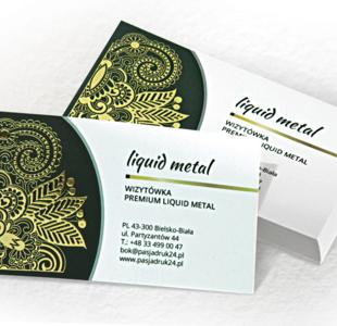 Wizytówka premium liquid metal